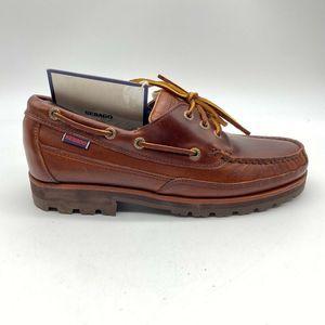 Sebago Mens Boat Shoes Brown Leather 41.5